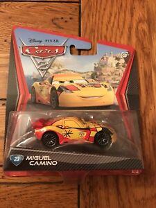 Mattel Disney Pixar Cars 2 MIGUEL CAMINO #23 Car 1:55 Scale