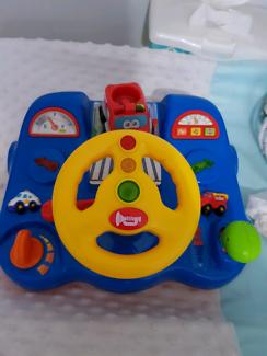 Steering wheel car toy