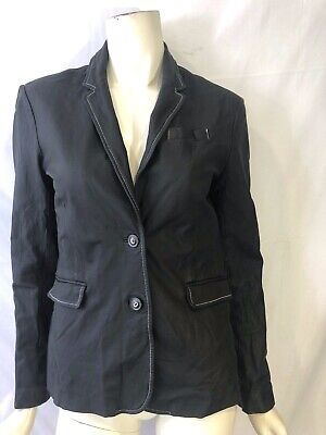 ATM Anthony Thomas Melillo size 6 small Black leather fitted jacket women's