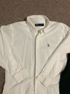 Boys Ralph Lauren White Long Sleeve Size 10