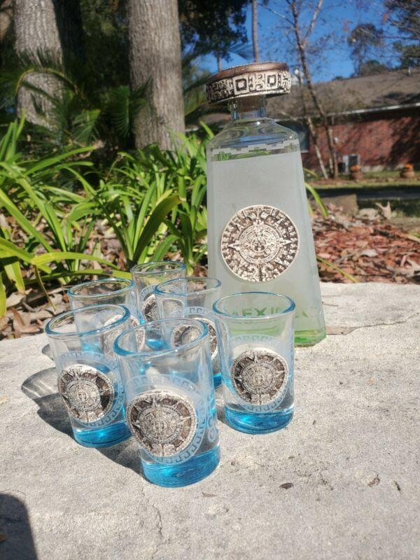 Tequila Bottle Set - Theotihuacan Art