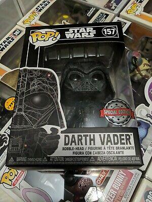 Funko Pop Star Wars Futura : Darth Vader #157 Special Edition + Protector