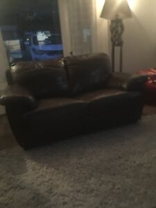 3 piece leather couch set free