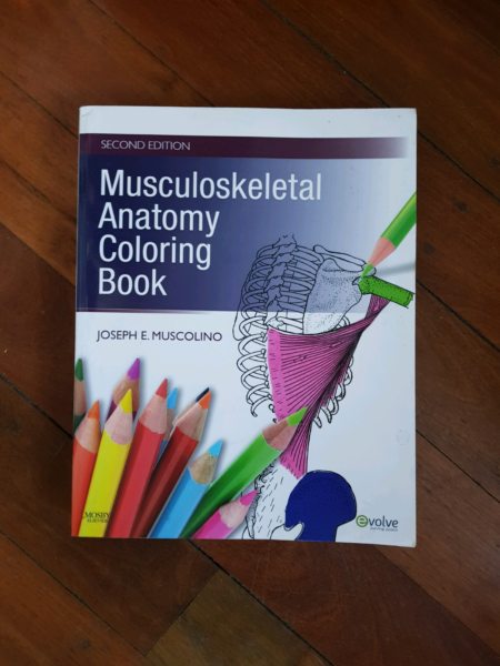 Musculoskeletal Anatomy Colouring Book   Textbooks   Gumtree ...