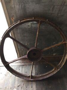 Steel art late 1800s gears cups wheel ect