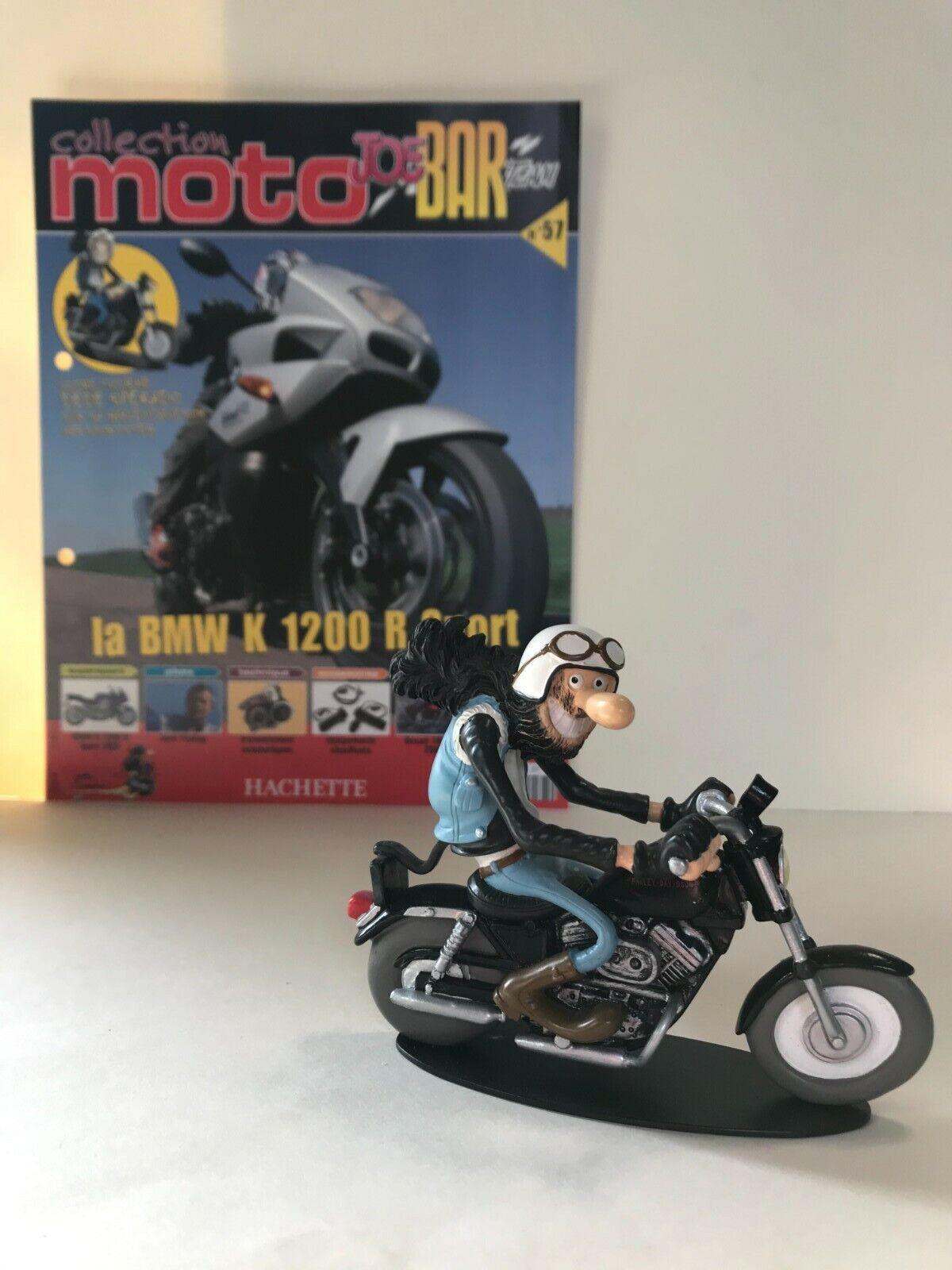 Figurine joe bar team & livret moto
