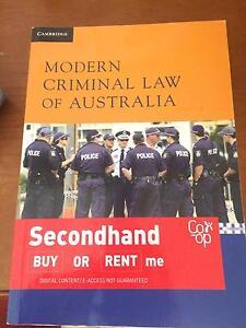 Modern Criminal Law of Australia by Jeremy Gans 1st edition Kenthurst The Hills District Preview