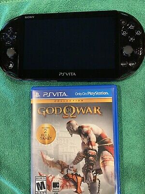 PS Vita Slim PCH-2001 Handheld Console TESTED With God Of War Collection RARE