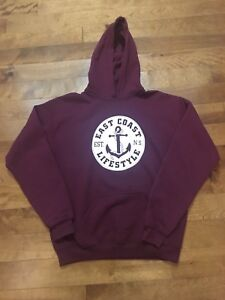 East Coast Lifestyle Hoodie, Size Youth XL