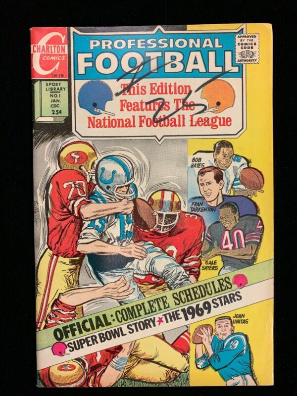 CHARLTON COMICS- PROFESSIONAL FOOTBALL #1 1969/70 JOHN UNITAS Mid Grade