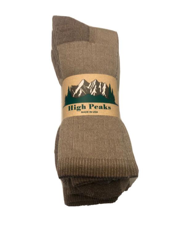 3 Pair 71%Merino Wool High Peaks Hiker socks XL 13-15