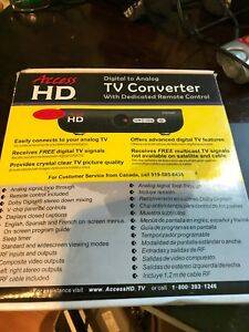 Access HD 1030D Digital To Analog TV Converter Box