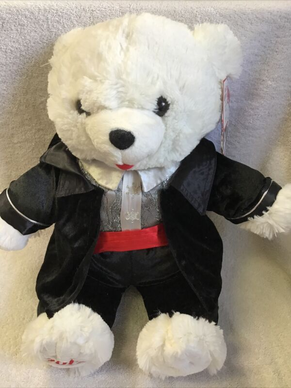 2012 SNOWFLAKE TEDDY BEAR HOLIDAY TIME WHITE WITH BLACK TUX 18 IN BRAND NEW