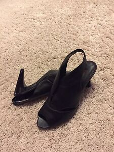 Black heels - Nine West and Fiori size 8