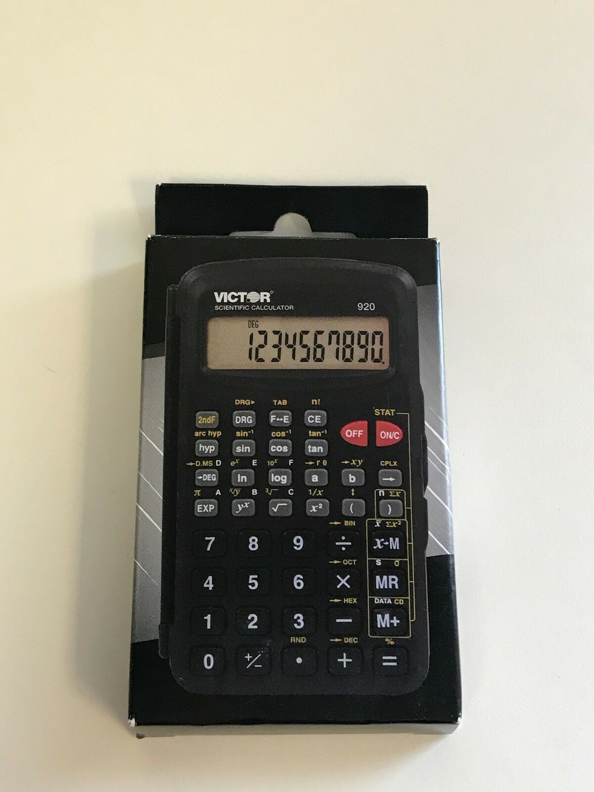 Victor Technology 920 Compact Scientific Calculator With Hinged Case, 10 Digit