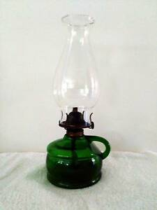 Antique Vintage Green Glass Eagle Oil/Kerosine Finger Lamp Clontarf Redcliffe Area Preview
