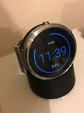 Moto 360 (1st gen) smartwatch, silver metal band Hallam Casey Area Preview