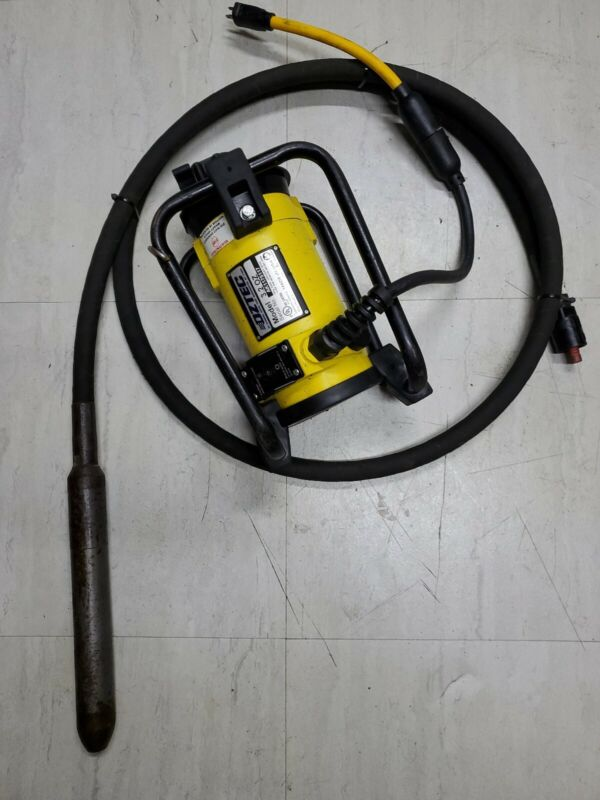 """Oztec 3.2 OZ Concrete Vibrator Motor with Quick Disconnect/ W.2""""Rubber Head 10FT"""