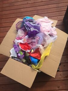 Box of dress up clothes