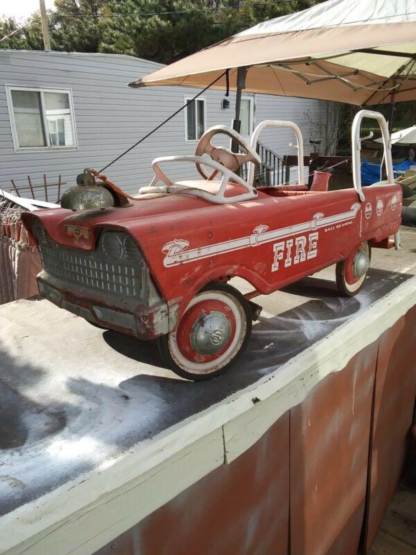Original Paint Murray vintage Pedal Car Fire Ball Bearing,