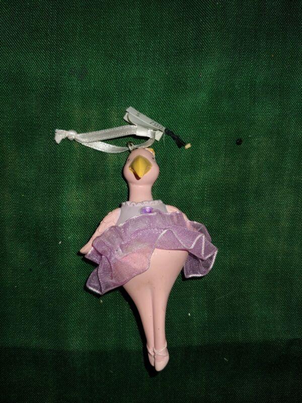 Christmas Ornament Ballet Flamingo