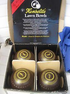 Lawn bowls, Henselite size 4, 2 sets Bibra Lake Cockburn Area Preview