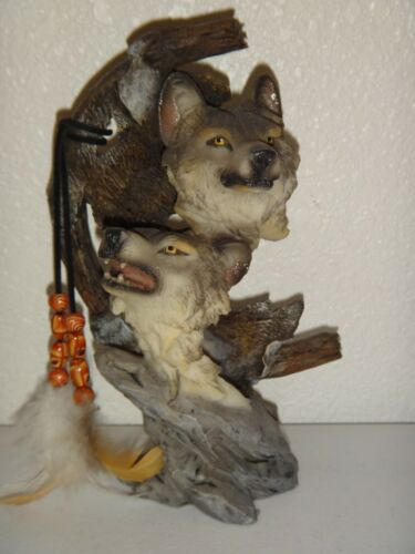 Gray WOLF Figurine Souvenir  Height:  7.5 inches