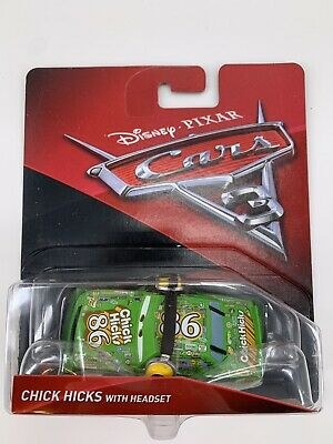 Disney Pixar Mattel Cars 3 Die-Cast Chick Hicks With The Headset Toy Vehicle