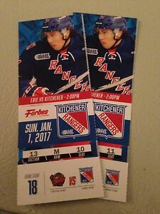 2 Kitchener Rangers tickets for sale