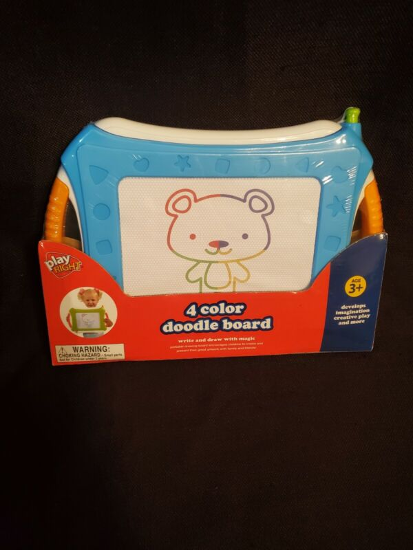 Play Right Doodle Board 4 Color Write and Draw with Magic Brand New