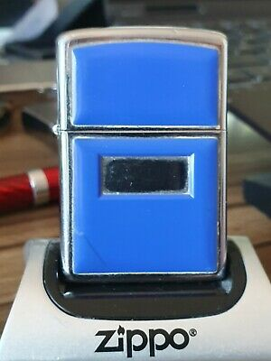 USED BUT GOOD CONDITION 1981 BLUE ULTRALITE ZIPPO LIGHTER IN PLASTIC CASE