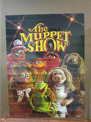 Vintage 1976 The Muppet Show poster muppet characters 5135