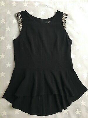 Star by Julien Macdonald size 14 top with diamante and jewelled short cap sleeve