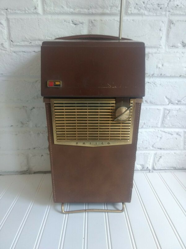 VINTAGE 1959 OLD ANTIQUE PHILCO SAFARI EXCELLENT 1ST TRANSISTOR TELEVISION WORKS