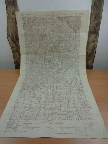 """WW1 (1916) """"ASIAGO PLATEAU"""" (SETTE COMUNI) FRENCH / ITALIAN Map (B.E.F. - ITALY)"""