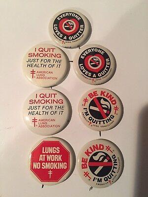 Quit Smoking pinbacks/buttons