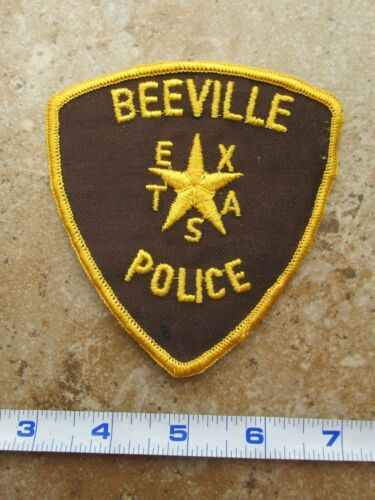 OBSOLETE Vintage State of Texas Beeville Police Department Shoulder Patch