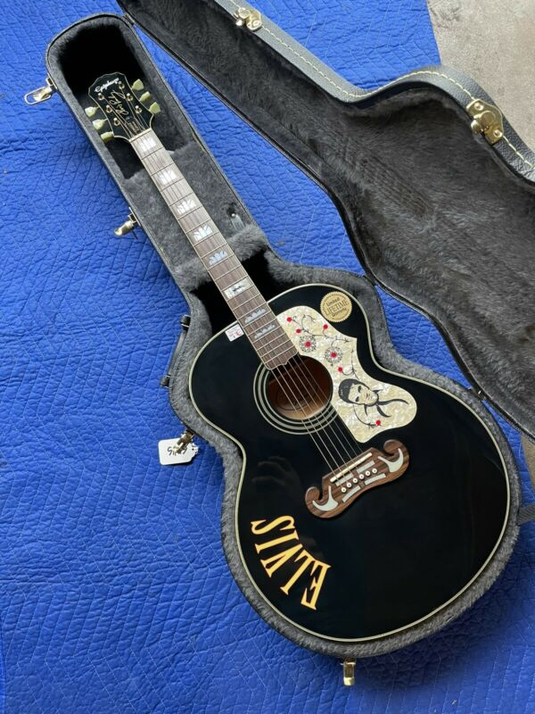 Elvis Presley Epiphone Guitar w/ Hard Case Limited Edition EXCELLENT Condition!!