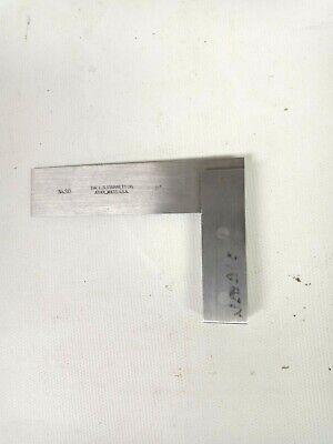 Vtg The L. S. Starrett Solid Steel Hardened Edge Square No. 20 3 Usa