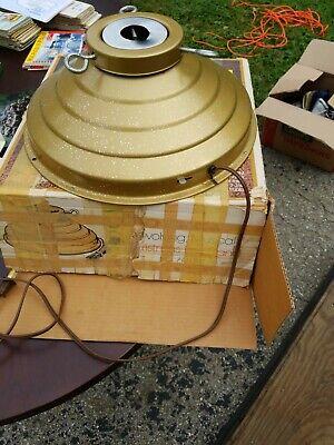 60's STAR BELL Musical Rotating Christmas Tree Stand Vtg - Works - Gold Glitter