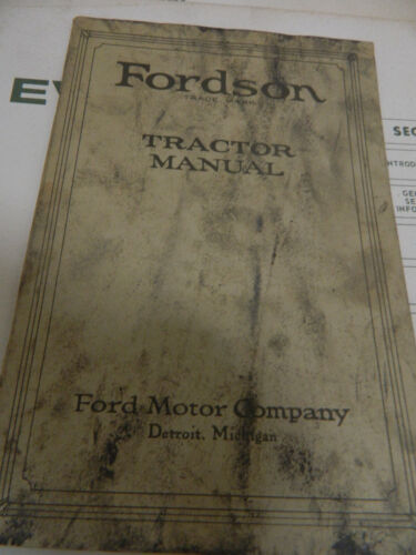 FORDSON TRACTOR MANUAL 1920