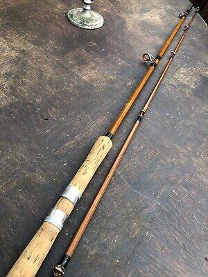 9ft Salmon Spinning/carp Stalker Fishing Rod Split Cane, Full Set Agate Eyes