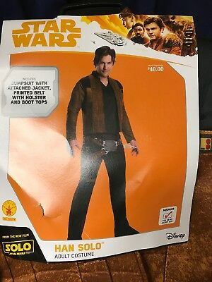 Disney Star Wars Han Solo Movie Adult Costume Medium 38-40 Jacket  - Disney Movies Costumes