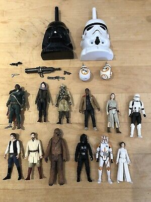 "Star Wars Bundle Job Lot Action Figures 3.75"" and Star Wars Walkie Talkie"