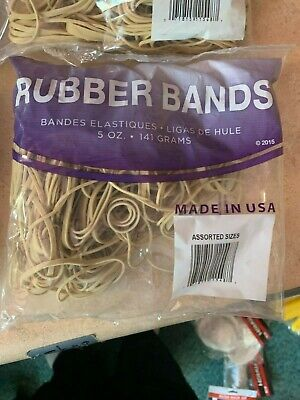 Rubber Bands Assorted Sizes 5 Ounce Bags