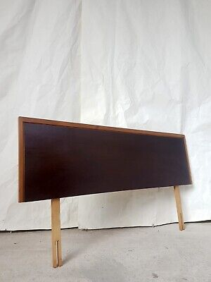 Vtg Mid Century Stag Single Bed Headboard Retro Danish Design #839