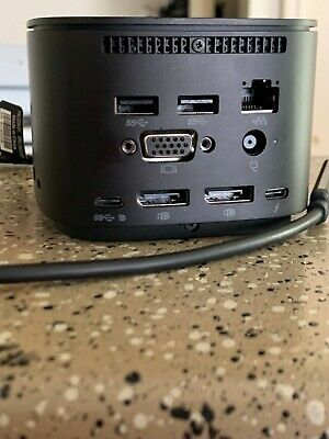 HP 2UK37AA#ABA Thunderbolt Dock G2 120W Docking Station - Black