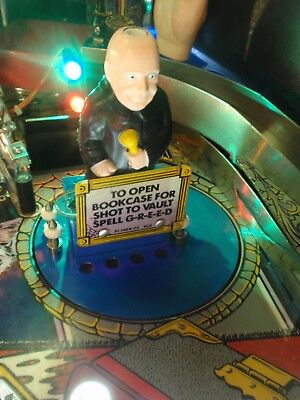 ADDAMS FAMILY PINBALL MACHINE PLAY FIELD PLASTIC UNCLE FESTER RE-PURPOSED MOD!