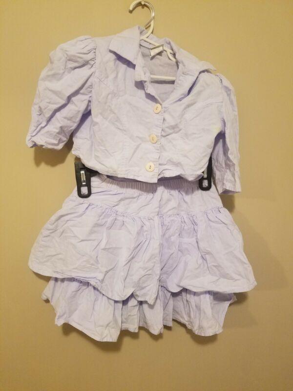 Vintage 1980s Oops Kids California 2 Peice Skirt Jacket  Girls Size 7