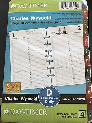 Charles Wysocki Americana Page-per-day Planner Refill Size 4 Day-timer